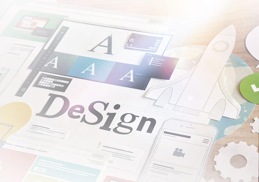 travail et recherche de design graphique