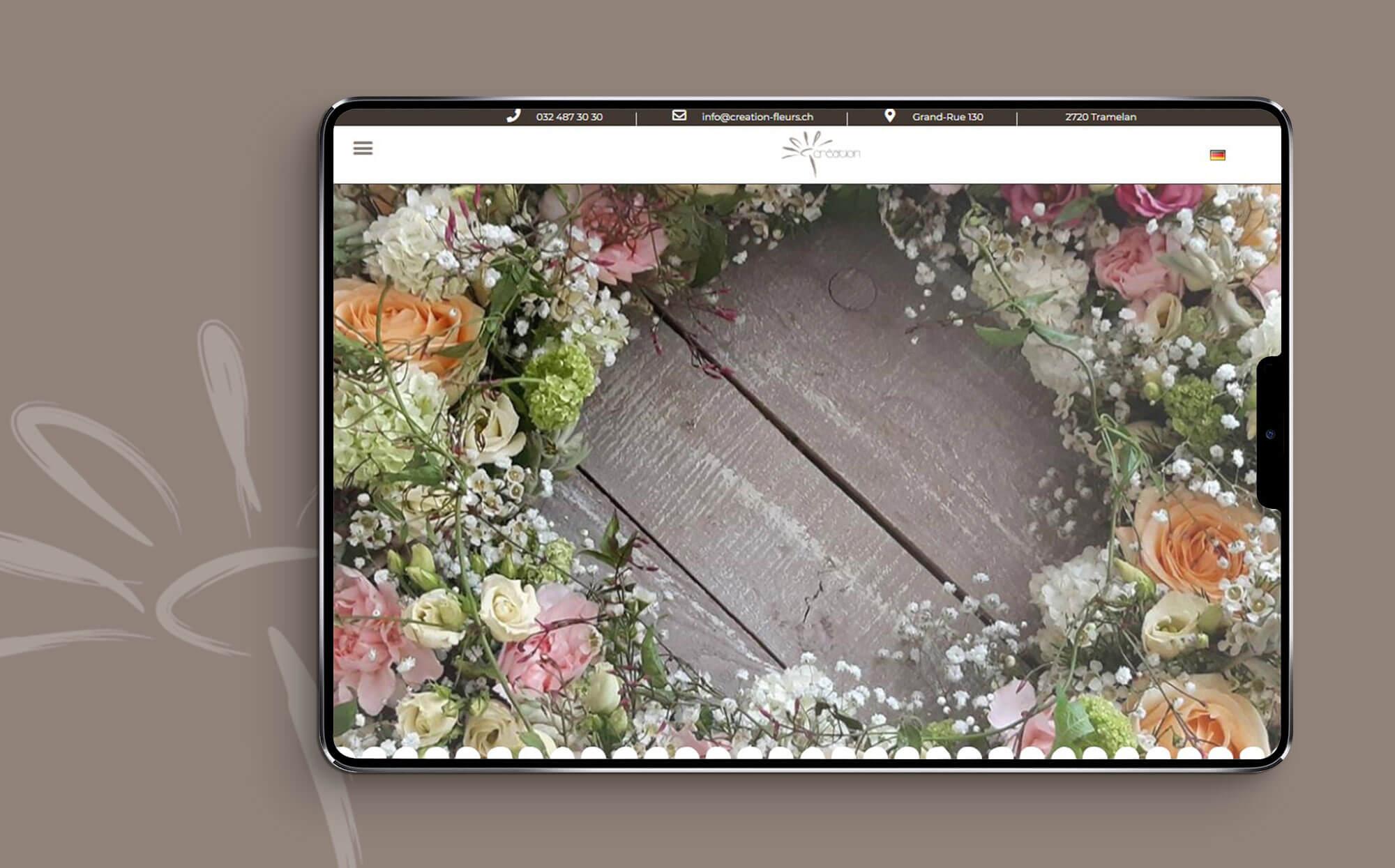 Site internet Création Fleurs