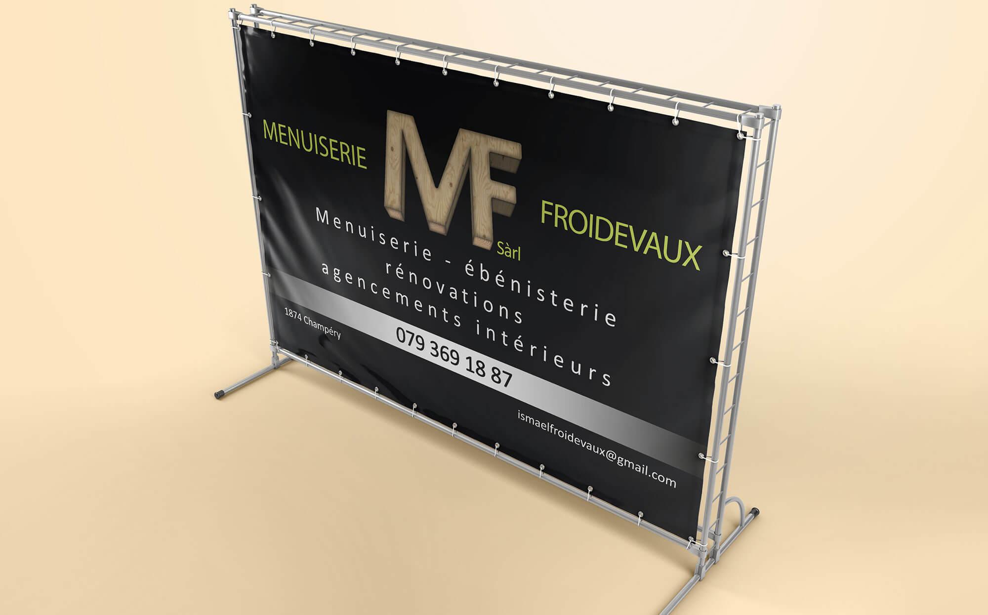 bache promotionnelle Menuiserie Froidevaux