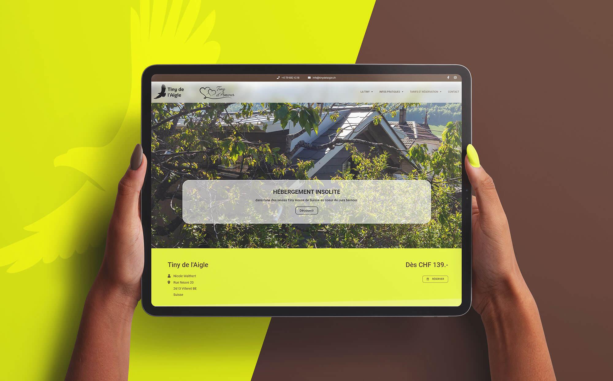 tablette site internet tiny de l'Aigle