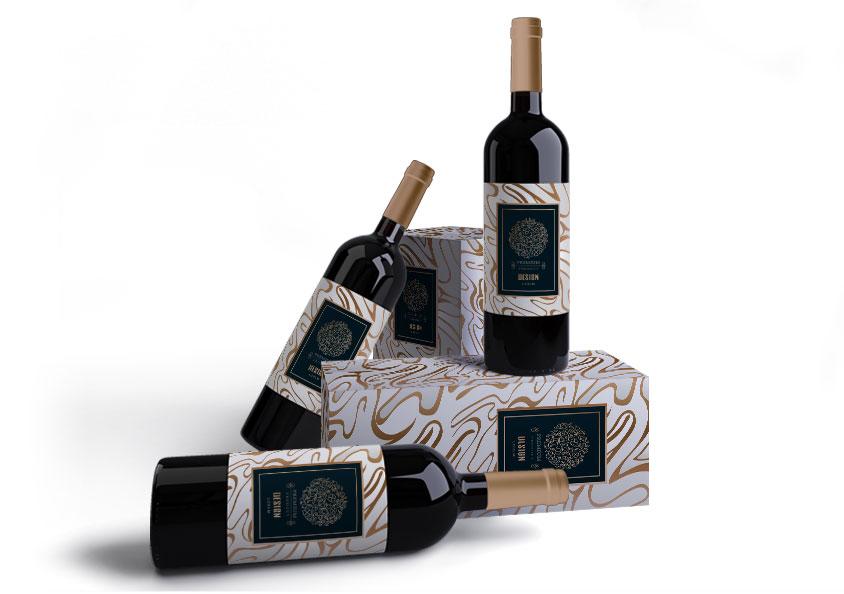 bouteilles de vin packaging