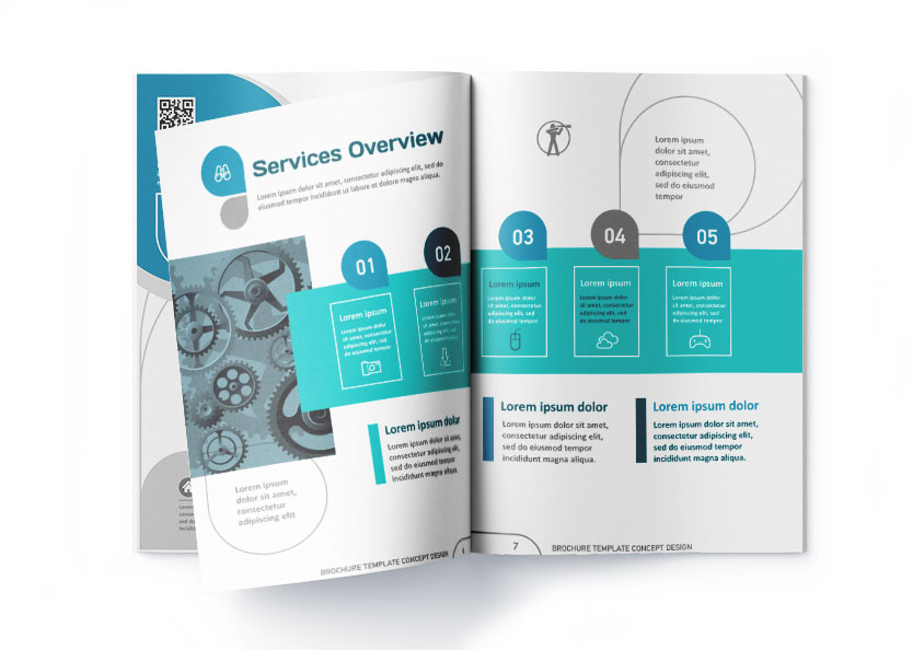 brochure exemple design