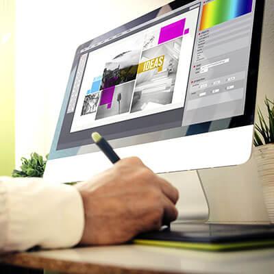conception template à l'ordinateur