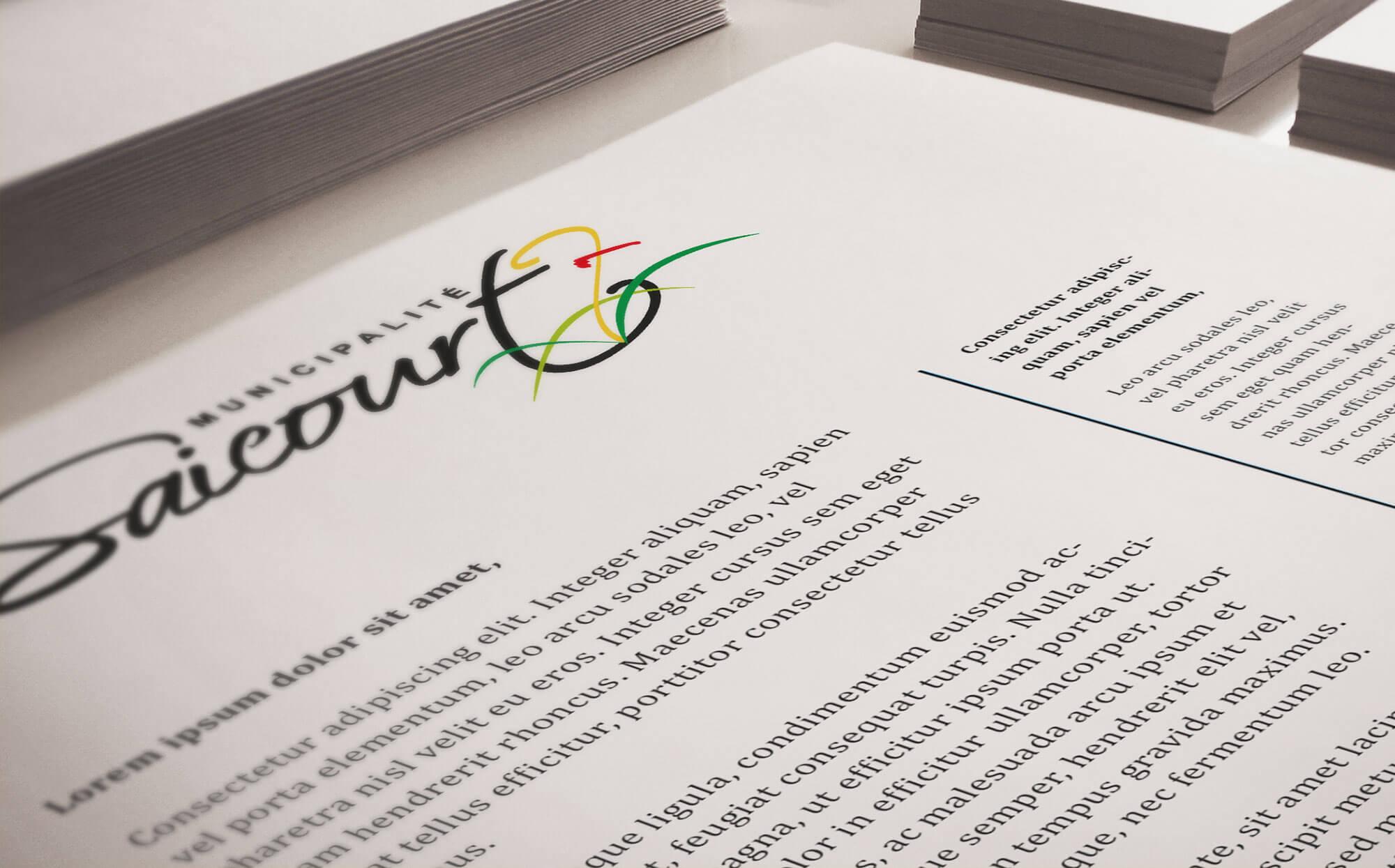 Papier à lettre commune de Saicourt